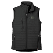 WOMEN'S STORM CREEK ECO-INSULATED QUILTED VEST- Pleather Mono Patch