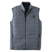 MEN'S STORM CREEK ECO-INSULATED TRAVELPACK VEST- Pleather Mono Patch
