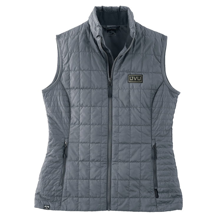 WOMEN'S STORM CREEKECO-INSULATED TRAVELPACK VEST- Pleather Mono Patch