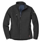 WOMEN'S STORM CREEK ECO-INSULATED QUILTED JACKET- Pleather Mono Patch
