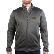 MEN'S STORM CREEK HEATHER PERFORMANCE FLEECE JACKET- Pleather Mono Patch