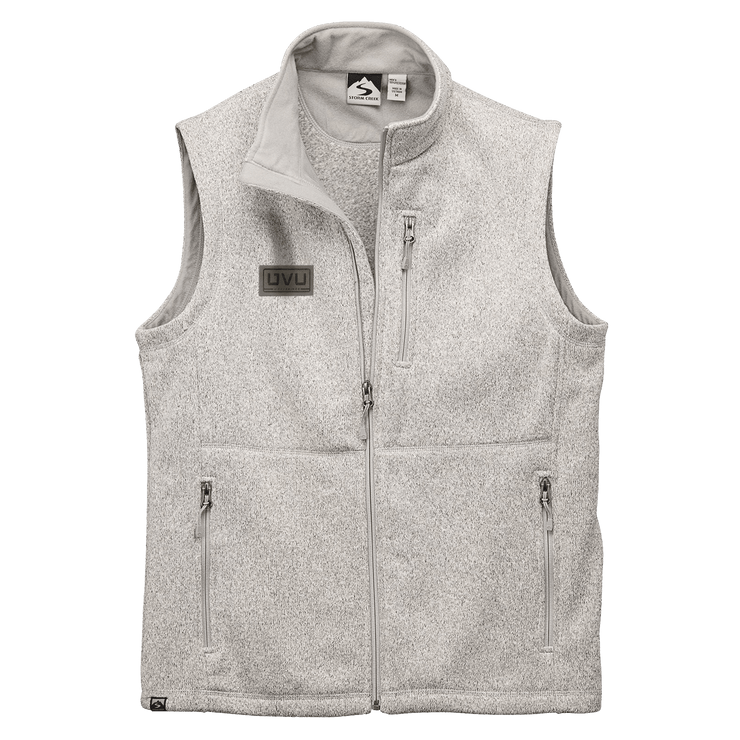 MEN'S STORM CREEK SWEATERFLEECE VEST- Pleather Mono Patch
