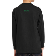 Gildan Youth Heavy Cotton 100% Cotton Long Sleeve T-Shirt- UVU Distressed