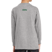Gildan Youth Heavy Cotton 100% Cotton Long Sleeve T-Shirt- Bleed Green