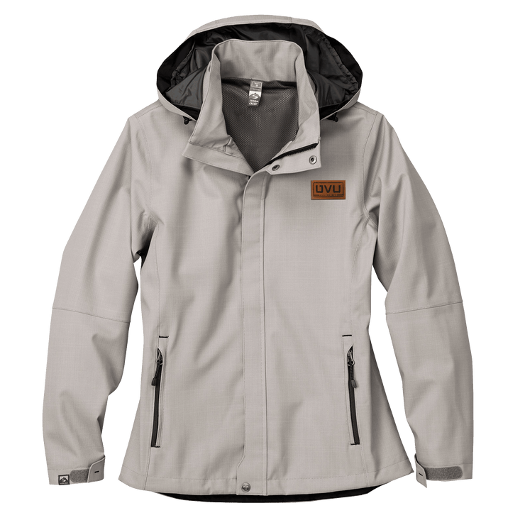 WOMEN'S STORM CREEK EXECUTIVE ALL-SEASON JACKET- Pleather Mono Patch