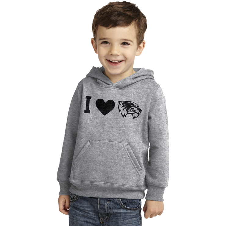 Port & Company Toddler Core Fleece Pullover Hooded Sweatshirt- I Love Wolverines