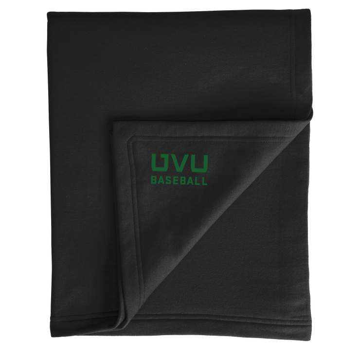 Port & Company Core Fleece Sweatshirt Blanket- UVU Baseball