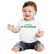 Port & Company Infant Core Cotton Tee - My Dad is a Wolverine