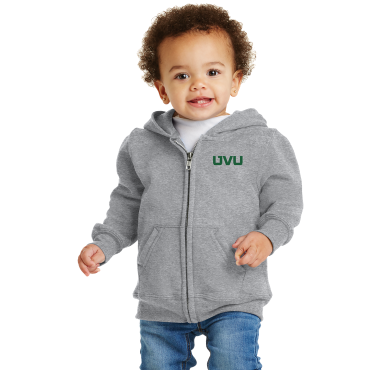 Port & Company Infant Core Fleece Full-Zip Hooded Sweatshirt- UVU Mono