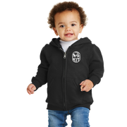 Port & Company Infant Core Fleece Full-Zip Hooded Sweatshirt- Kit Crest