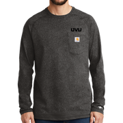 Carhartt Force Cotton Delmont Long Sleeve T-Shirt - Mono Silicone