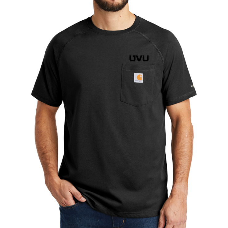 Carhartt Force Cotton Delmont Short Sleeve T-Shirt - Mono Silicone