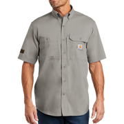 Carhartt Force Ridgefield Solid Short Sleeve Shirt - Pleather Mono Patch