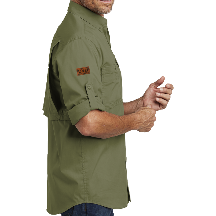 Carhartt Force Ridgefield Solid Long Sleeve Shirt - Pleather Mono Patch