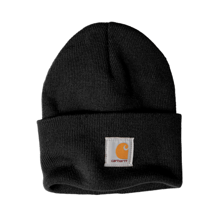 Carhartt Acrylic Watch Hat- Pleather Mono Patch