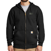 Carhartt Midweight Hooded Zip-Front Sweatshirt -  Pleather Mono Patch