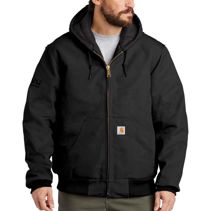 Carhartt Quilted-Flannel-Lined Duck Active Jac - UVU Engineering