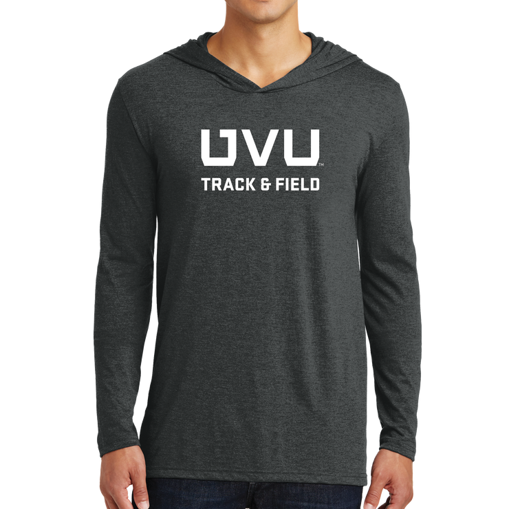 District Perfect Tri Long Sleeve Hoodie- UVU Track & Field