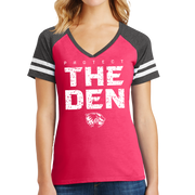 District Women's Game V-Neck Tee- Protect The Den