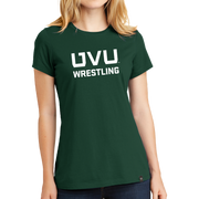 New Era Ladies Heritage Blend Crew Tee- UVU Wrestling