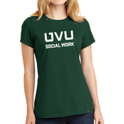 New Era Ladies Heritage Blend Crew Tee- UVU Social Work