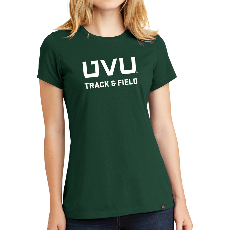 New Era Ladies Heritage Blend Crew Tee- UVU Track & Field
