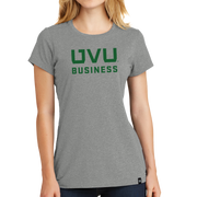 New Era Ladies Heritage Blend Crew Tee- UVU Business