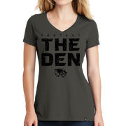 New Era Ladies Heritage Blend V-Neck Tee - Protect the Den