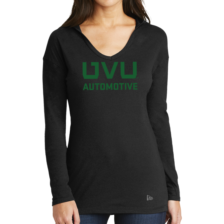 New Era Ladies Tri-Blend Performance Pullover Hoodie Tee - UVU Automotive