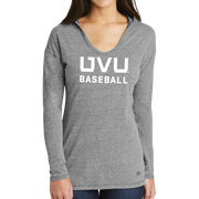 New Era Ladies Tri-Blend Performance Pullover Hoodie Tee - UVU Baseball