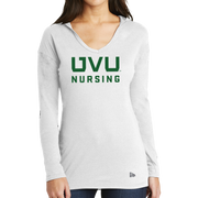 New Era Ladies Tri-Blend Performance Pullover Hoodie Tee - UVU Nursing