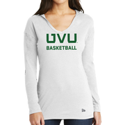 New Era Ladies Tri-Blend Performance Pullover Hoodie Tee - UVU Basketball