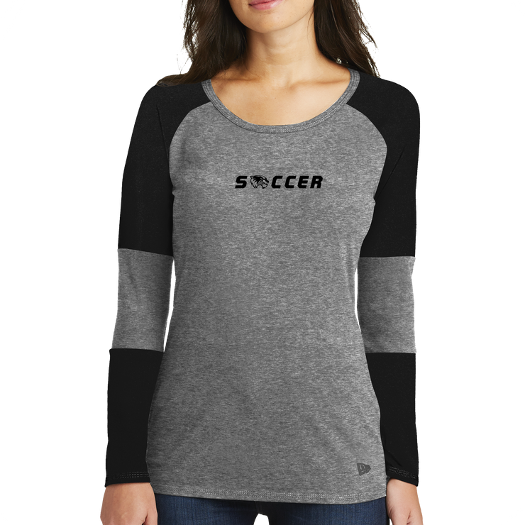 New Era® Ladies Tri-Blend Performance Baseball Tee - Soccer Head - UVU Clearance