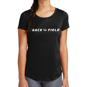 New Era Ladies Series Performance Scoop Tee- Track & Field Head