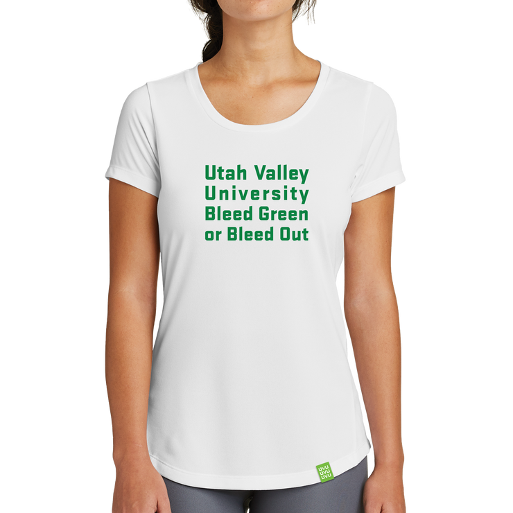 New Era Ladies Series Performance Scoop Tee- Bleed Green