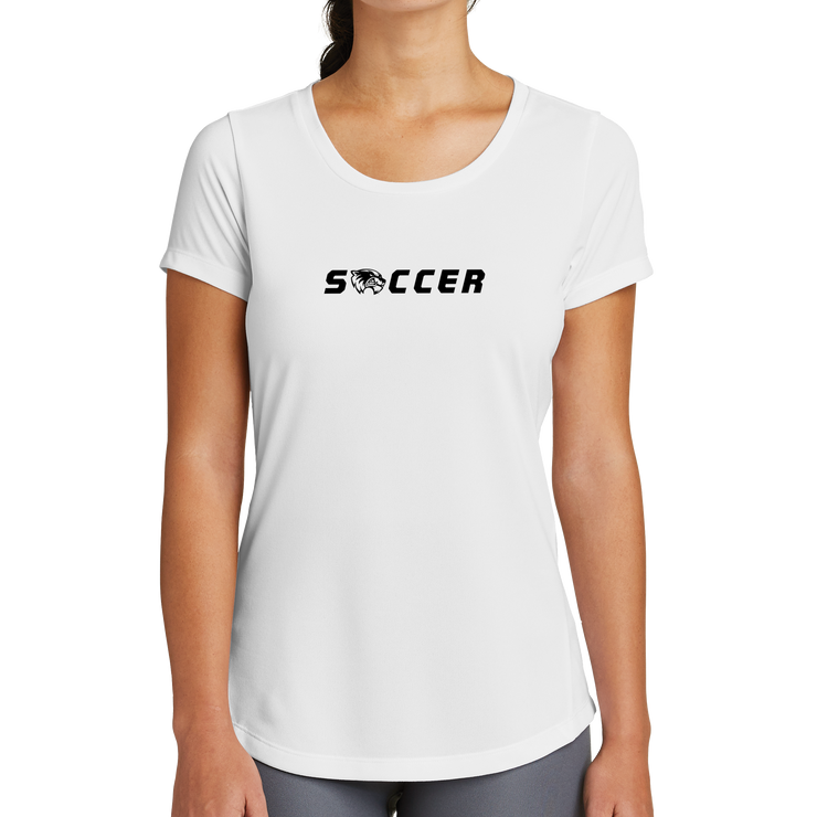 New Era Ladies Series Performance Scoop Tee- Soccer Head
