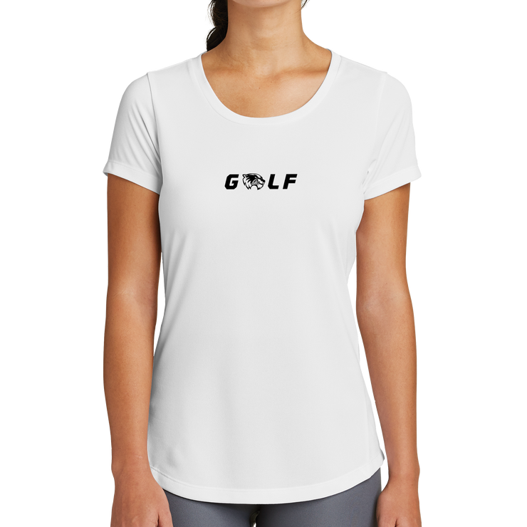 New Era Ladies Series Performance Scoop Tee- Golf Head