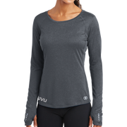 OGIO ENDURANCE Ladies Long Sleeve Pulse Crew - Mono Reflective