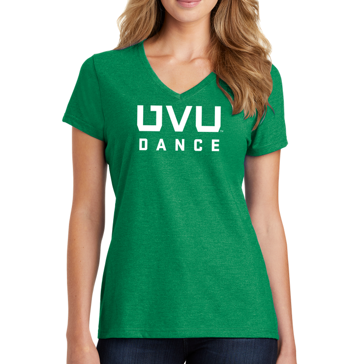 Port & Company Ladies Fan Favorite Blend V-Neck Tee- UVU Dance