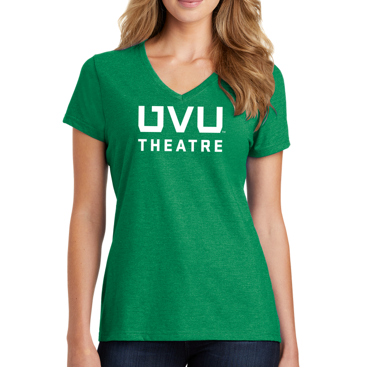 Port & Company Ladies Fan Favorite Blend V-Neck Tee- UVU Theatre