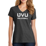 Port & Company Ladies Fan Favorite Blend V-Neck Tee- UVU Volleyball