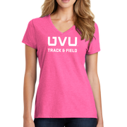 Port & Company Ladies Fan Favorite Blend V-Neck Tee- UVU Track & Field