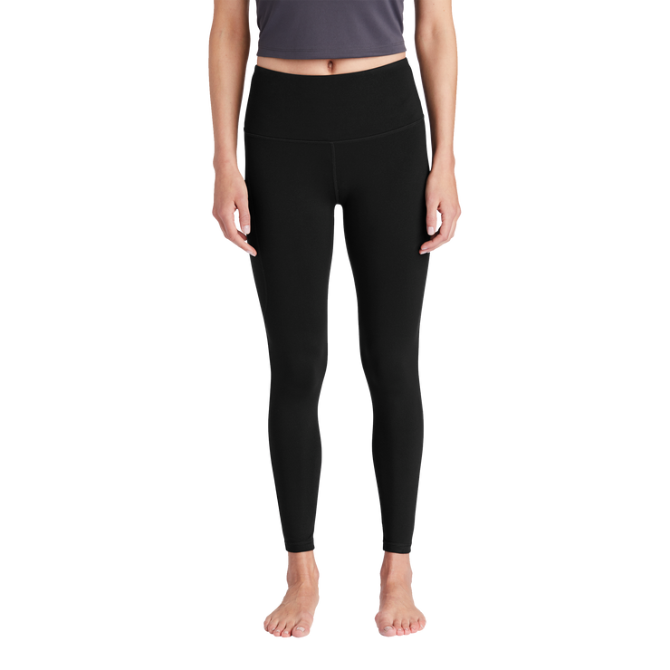 Sport-Tek Ladies High Rise 7/8 Legging- Mono Reflective