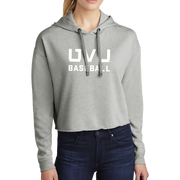 Sport-Tek Ladies PosiCharge Tri-Blend Wicking Fleece Crop Hooded Pullover - UVU Baseball