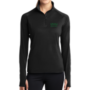 Sport-Tek Ladies Sport-Wick Stretch 1/2-Zip Pullover - UVU Basketball