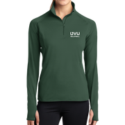 Sport-Tek Ladies Sport-Wick Stretch 1/2-Zip Pullover - UVU Volleyball