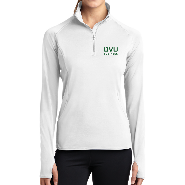 Sport-Tek Ladies Sport-Wick Stretch 1/2-Zip Pullover - UVU Business