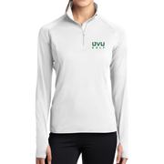 Sport-Tek Ladies Sport-Wick Stretch 1/2-Zip Pullover - UVU Golf