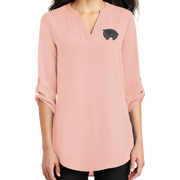Port Authority Ladies 3/4-Sleeve Tunic Blouse- Mascot 2 Tone