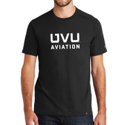 New Era Heritage Blend Crew Tee- UVU Aviation - UVU Clearance